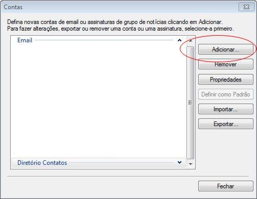 Configurando o Windows Live Mail em sua hospedagem Innova Host - Passo 2