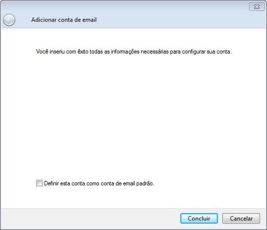Configurando o Windows Live Mail em sua hospedagem Innova Host - Passo 6